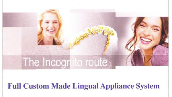 圖一,3M Incognito舌側矯正系統