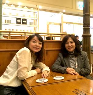 Precious tea time with my dear Japanese sister - Dr. Chiori Kobayashi 日本舌側矯正女牙醫第一名
