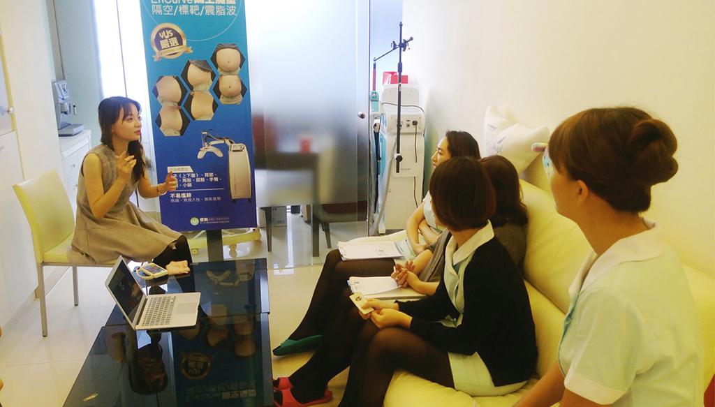 與「優勢醫美皮膚科診所」演講交流